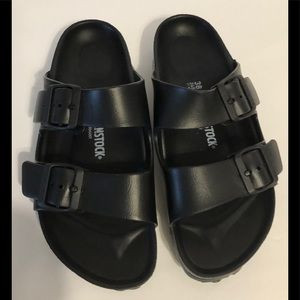 Birkenstock Arizona Eva Rubber Slides Black 38 N